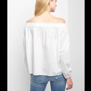 dafc95f0890604 GAP Tops | Women White Classic Off Shoulder Blouse Top | Poshmark